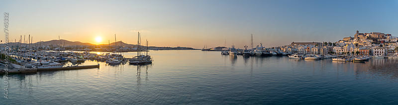 Ibiza port at dawn by ACALU Studio for Stocksy United
