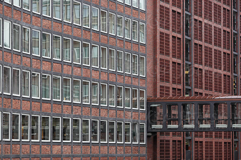 Beautiful renovated old warehouses in Hamburg by Marcel for Stocksy United