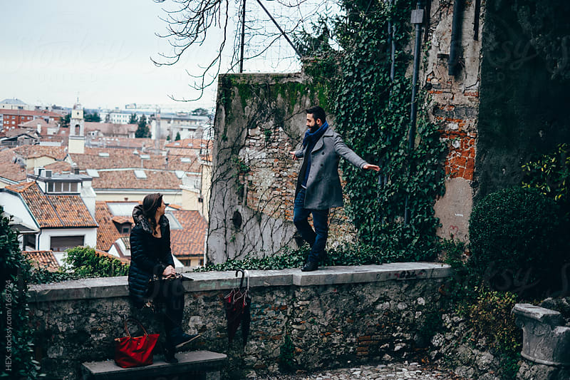 Young Couple Visit Italian City. Balance by HEX. for Stocksy United