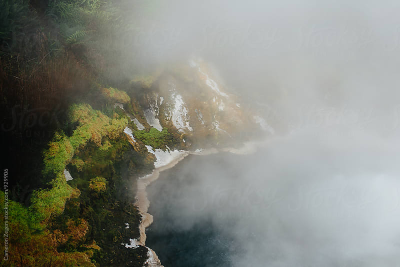steamy geothermal creek in New Zealand by Cameron Zegers for Stocksy United