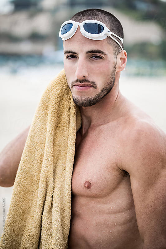 Portrait of swimmer after training by Lior + Lone for Stocksy United