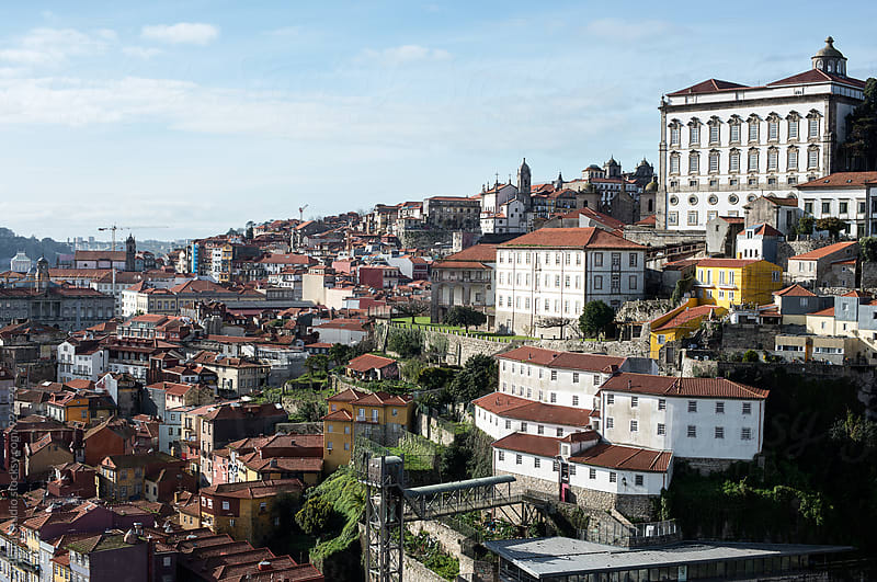 Views of the old town of Oporto  by Bisual Studio for Stocksy United