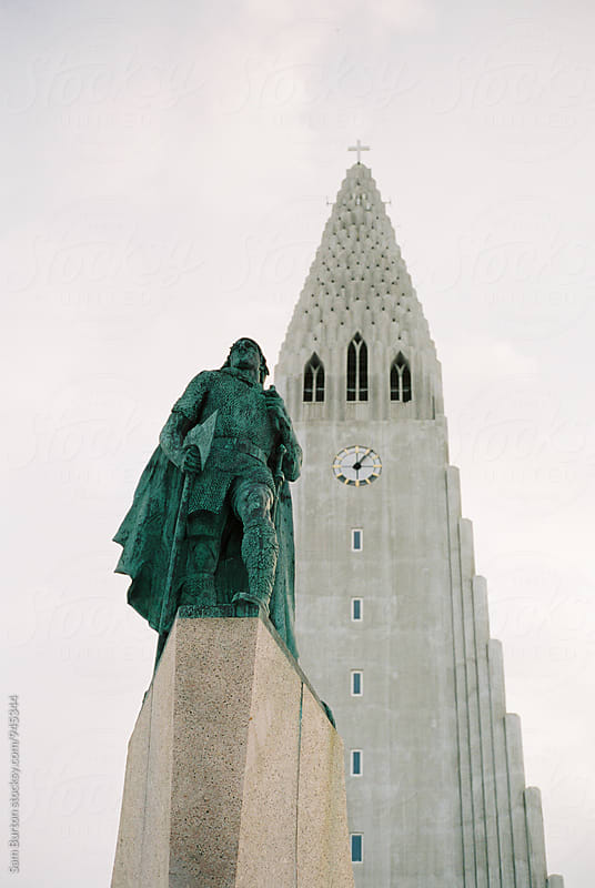 Hallgrímskirkja church by Sam Burton for Stocksy United