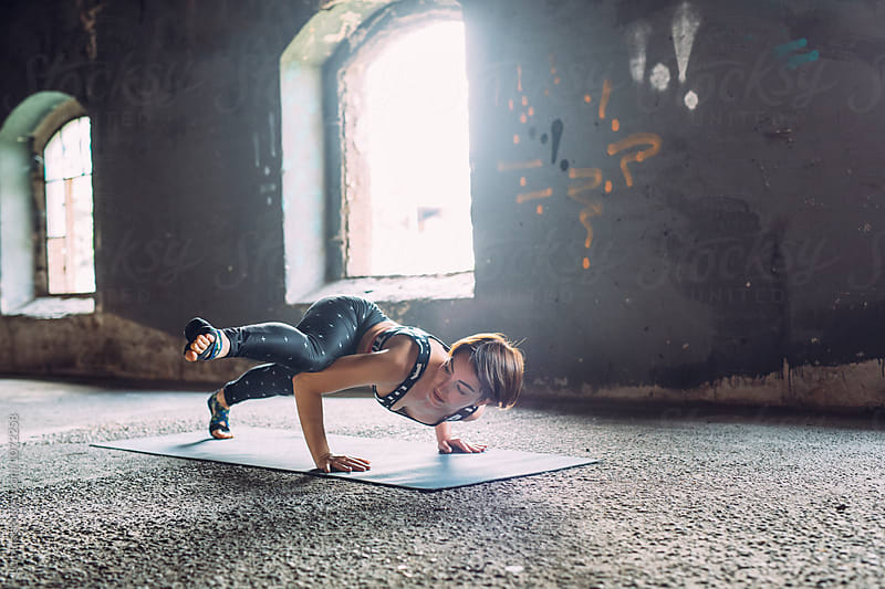 Woman Doing Yoga Indoors by Lumina for Stocksy United