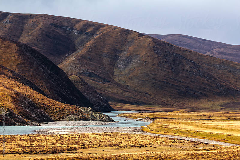 Chinese western landscape,Qinghai by zheng long for Stocksy United