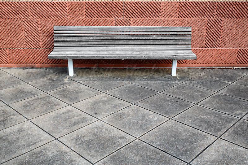 Weathered wooden bench by David Smart for Stocksy United