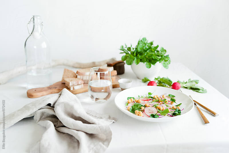 Fresh spring salad by Ellie Baygulov for Stocksy United