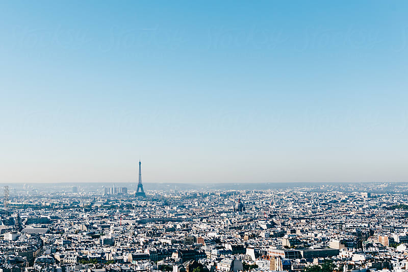 Cityscape of Eifel Tower and Paris at daytime by Trent Lanz for Stocksy United