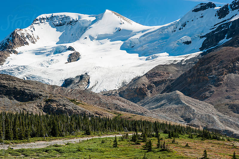 Jasper National Park: Boundary Peak with Icefield Parkway  by Peter Wey for Stocksy United