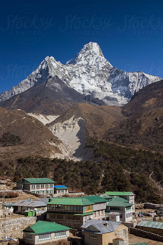 ma Dablam - way to Everest base camp - Nepal by Gabriel Diaz for Stocksy United