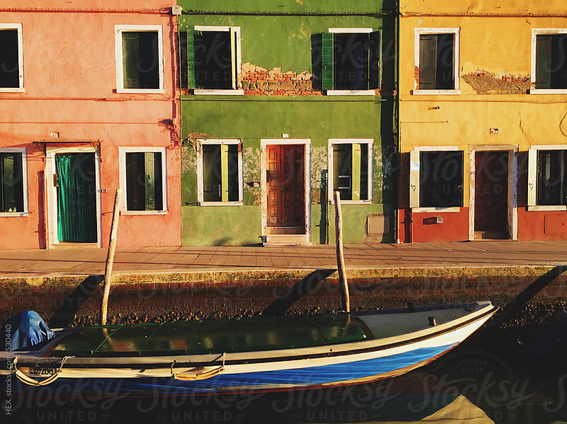 Burano Canal in Venice Italy by HEX. for Stocksy United