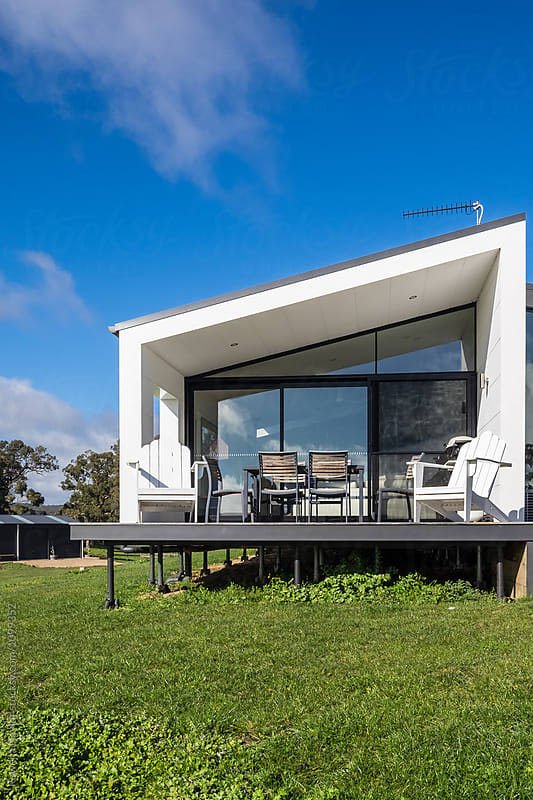 Contemporary home on country acreage by Rowena Naylor for Stocksy United