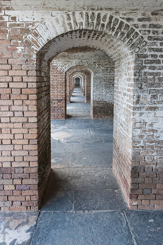 Repeating Brick Arches, Fort Jefferson by Adam Nixon for Stocksy United