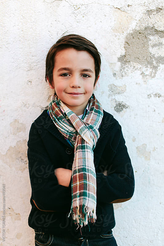 Portrait of a Cute Kid by VICTOR TORRES for Stocksy United