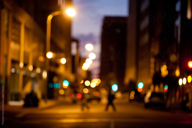 out of focus cityscape by Thomas Hawk for Stocksy United