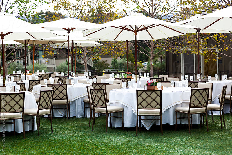 outdoor dining by Tanya Constantine for Stocksy United