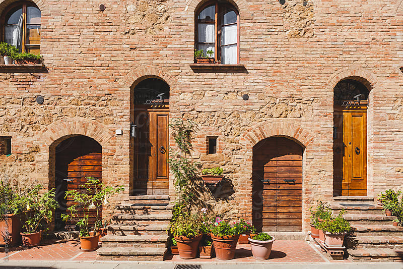 Rustica Residential Facade in Small Tuscan Town by Giorgio Magini for Stocksy United