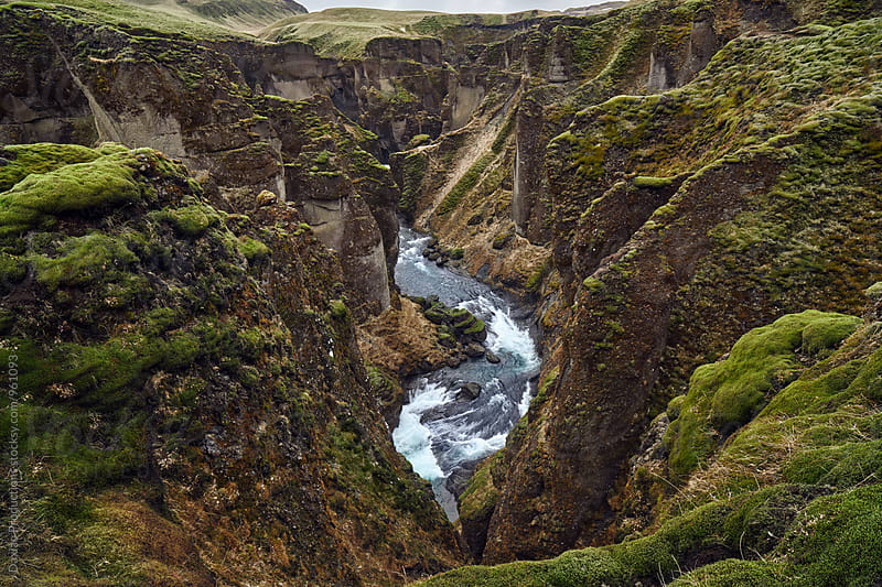 natural fjadrargljufur canyon in iceland  by Daxiao Productions for Stocksy United