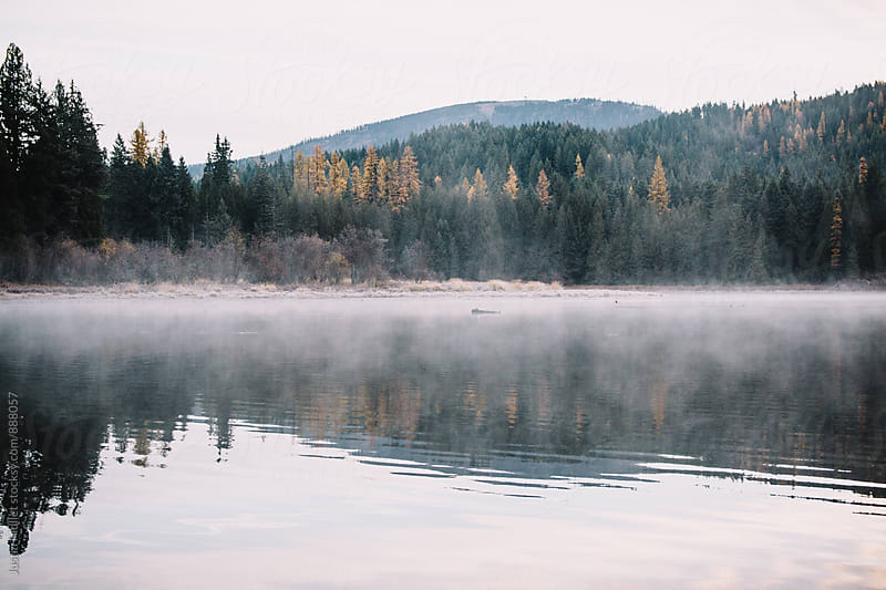 Early morning on South Skookum Lake, Washington by Justin Mullet for Stocksy United