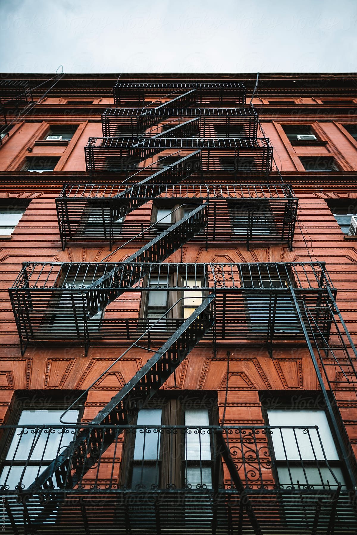 Outside Stairs On Building In Manhattan By GIC For Stocksy United