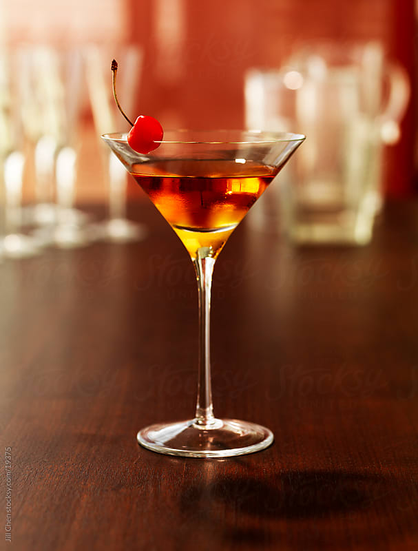 Classic Manhattan Cocktail by Jill Chen for Stocksy United