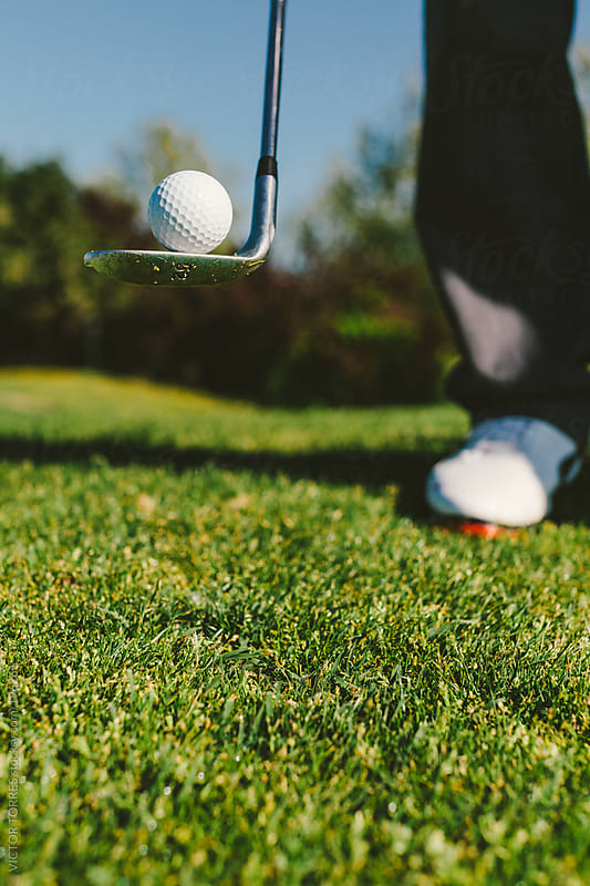 Golfer Balancing with a Ball by VICTOR TORRES for Stocksy United