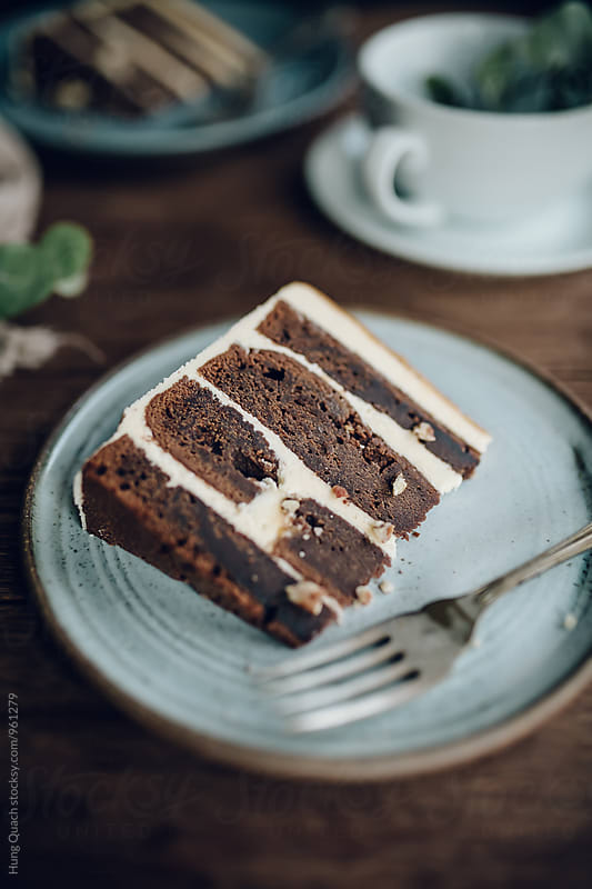 Chocolate Whiskey Caramel Cake by Hung Quach for Stocksy United