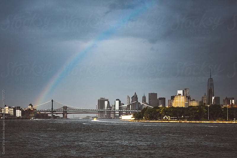 Rainbow in New York City by Good Vibrations Images for Stocksy United