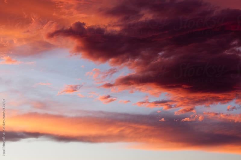Dramatic clouds and sky at dawn, Utah by Paul Edmondson for Stocksy United