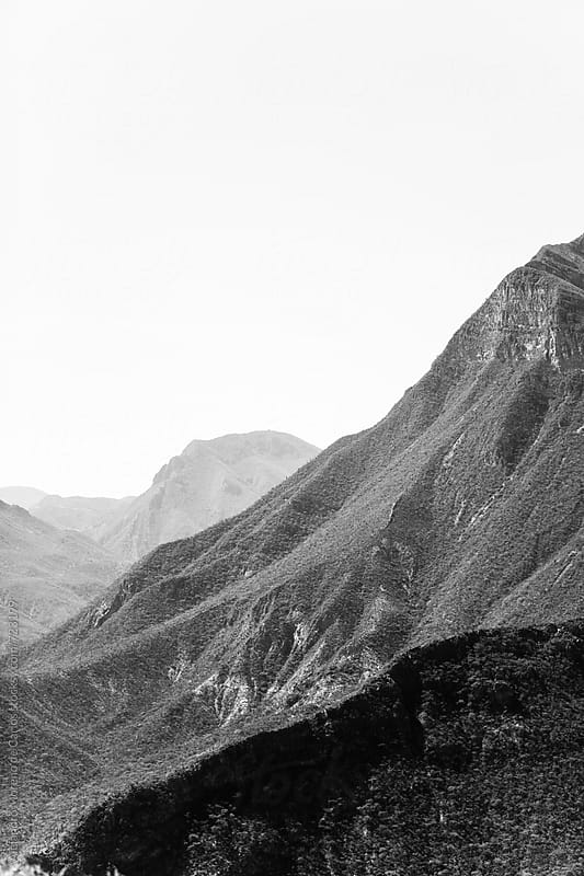 Mountain landscape in black and white. Oaxaca, Mexico by Alejandro Moreno de Carlos for Stocksy United