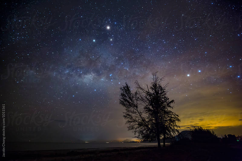 Milky way, night sky. by Jacobs Chong for Stocksy United