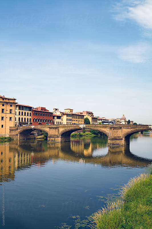 bridge over the river Arno in florence by Leander Nardin for Stocksy United