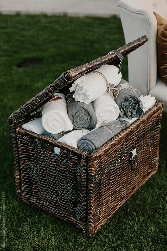 Blankets in Basket by Sidney Morgan for Stocksy United