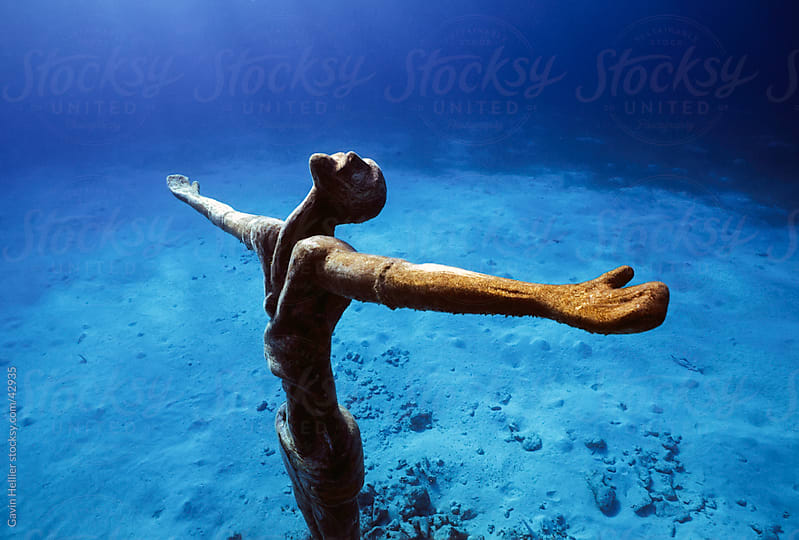 Statue of Christ underwater, Cozumel Island,  Quintana Roo, Caribbean,  Mexico by Gavin Hellier for Stocksy United