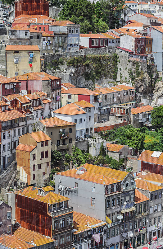 Typical buildings of the old Ribeira in Porto, Portugal by Luca Pierro for Stocksy United