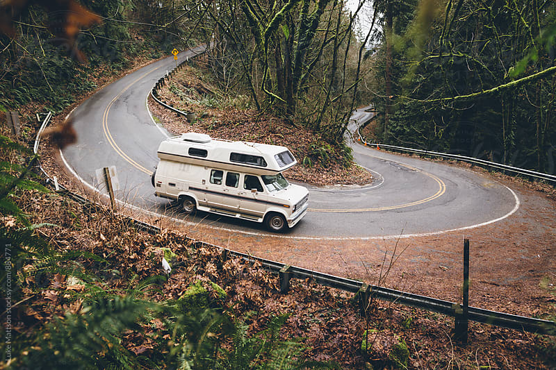 Camper Van On The Move by Luke Mattson for Stocksy United