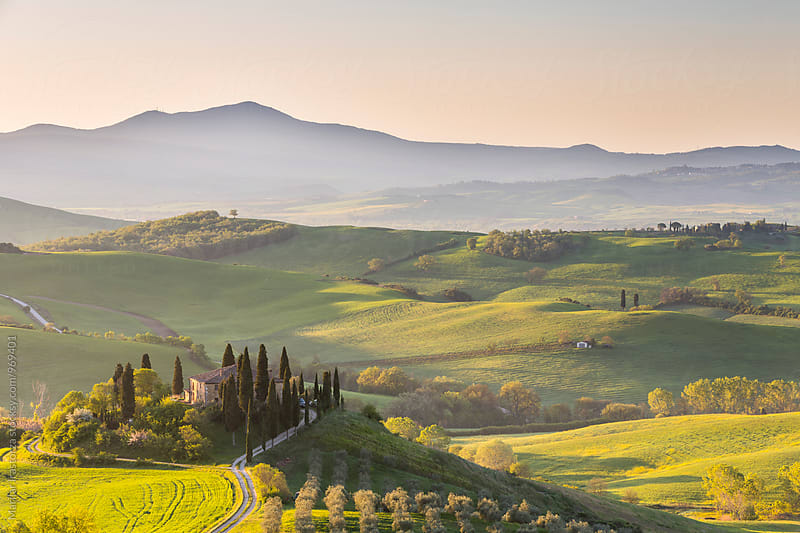 Tuscany sunrise by Marilar Irastorza for Stocksy United
