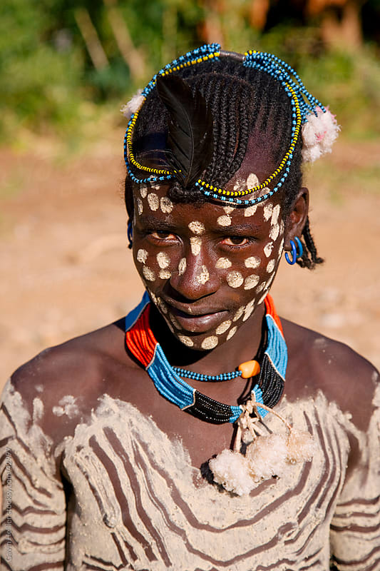 Portrait of a man of the Hamer tribe, Lower Omo Valley, Southern Ethiopia, Africa by Gavin Hellier for Stocksy United