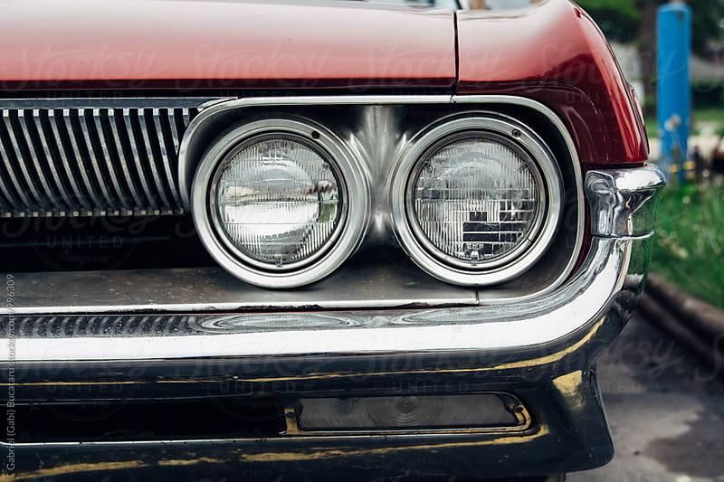 Vintage American car headlights by Gabriel (Gabi) Bucataru for Stocksy United