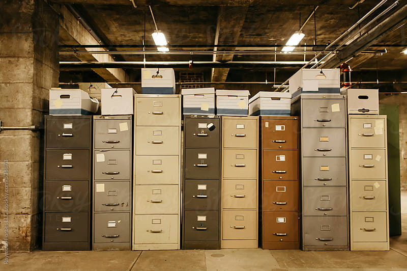 Old File Cabinets by Raymond Forbes LLC for Stocksy United