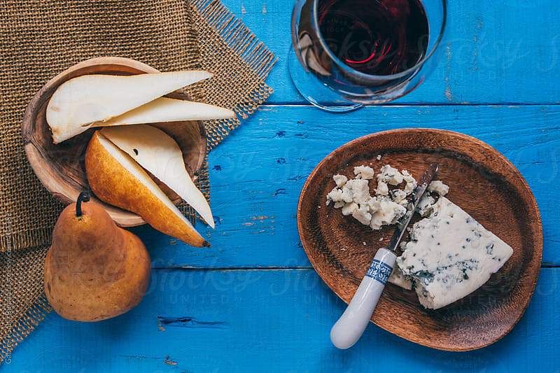 Pears, Cheese and Wine by Gabriel (Gabi) Bucataru for Stocksy United