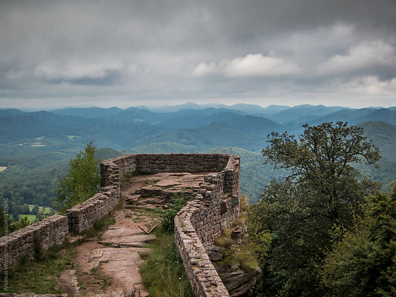 Castle Viewpoint over Palatinate Forest by Andreas Wonisch for Stocksy United