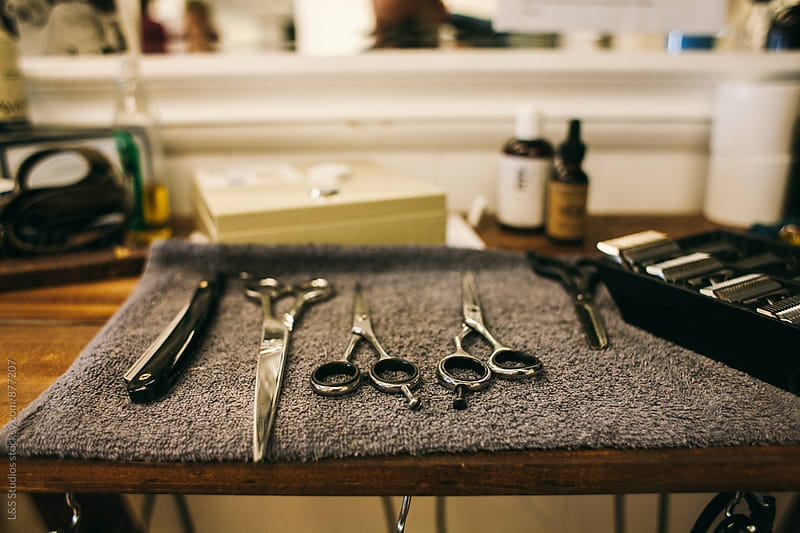 A barber's tools. by L&S Studios for Stocksy United