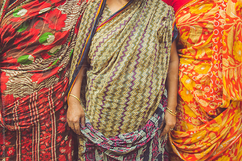 Three Woman Dressed in Saris by Diane Durongpisitkul for Stocksy United