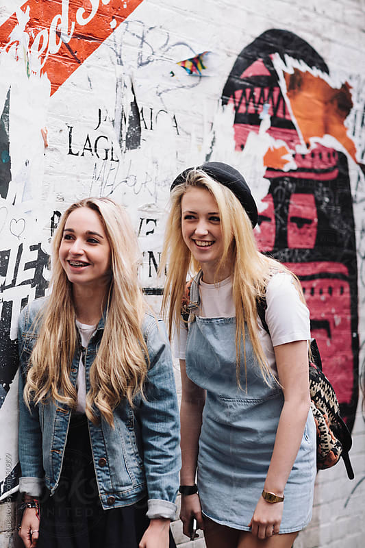 Happy blonde teenage girls  by kkgas for Stocksy United