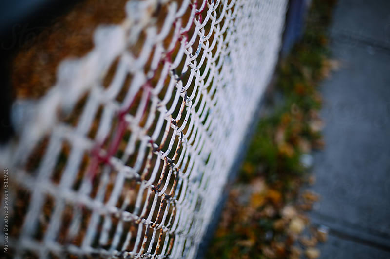 A rusted fence by Murtaza Daud for Stocksy United