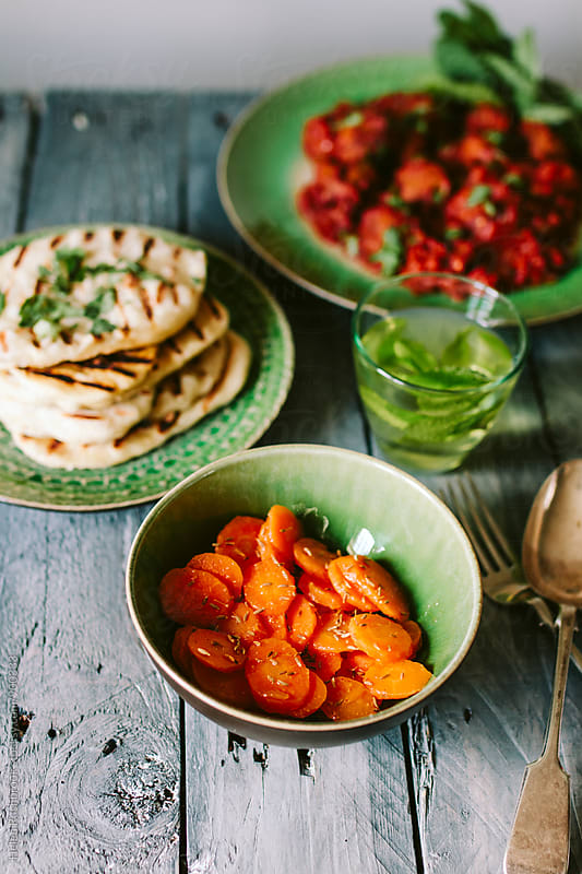 A moroccan meal by Helen Rushbrook for Stocksy United