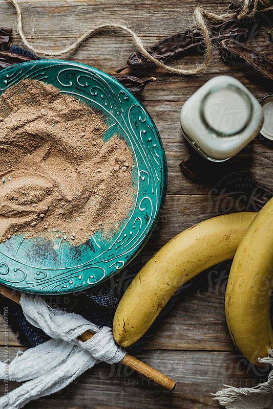 Carob with milk and bananas by Tatjana Ristanic for Stocksy United