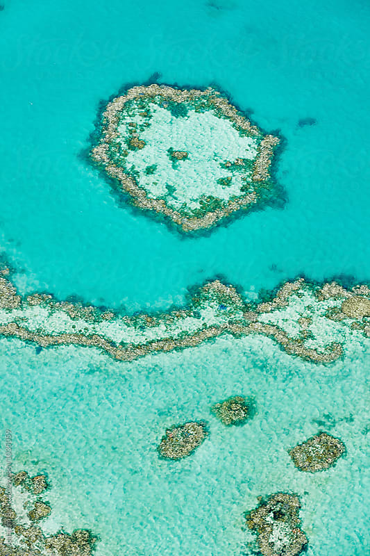 Overview of the Great Barrier Reef by Joaquim Bel for Stocksy United