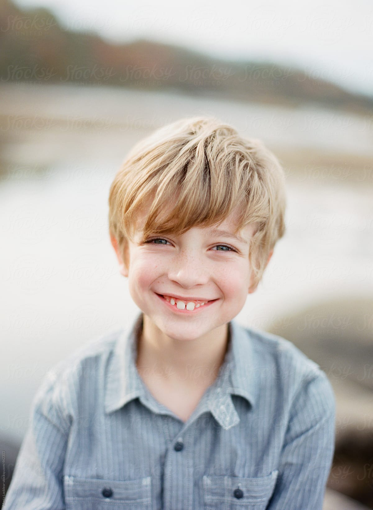 Young blond boy